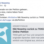 Online Petition für Original-Karl